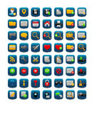 Square web icons Stock Images