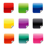 Square Web Stickers Royalty Free Stock Image