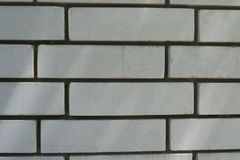 Square white brick wall background. Square white brick house wall background Royalty Free Stock Photo