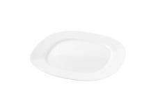 Square white dinner plate Stock Images