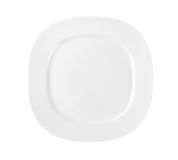 Square white dinner plate Stock Photos