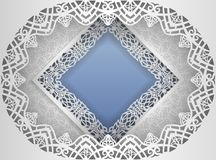 Square white frame in an oval frame  Stock Images