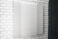 Square white glass plate Royalty Free Stock Photo