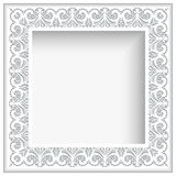 Square white paper lace frame Royalty Free Stock Photos
