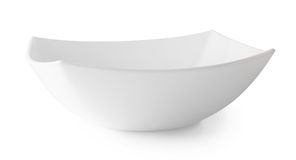 Square white soup plate Stock Photo