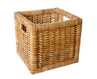 Square wicker basket Stock Image