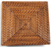 Square wicker plate Stock Photo