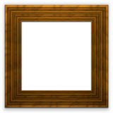 Square wide wooden frame Royalty Free Stock Images