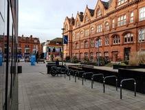 The Square, Wigan Life Centre. The small square in front of the Wigan Life Centre Royalty Free Stock Image