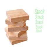 Square wood Stock Photo