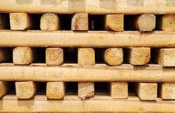 Square wood pile Royalty Free Stock Photos
