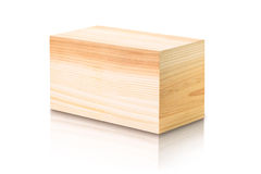 Square wooden box Royalty Free Stock Photography