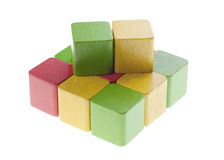 Square with wooden cubes Stock Photography