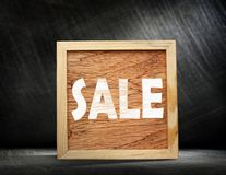 Square wooden frame Stock Image