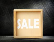 Square wooden frame Royalty Free Stock Image