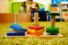 Square wooden stacker Royalty Free Stock Photos