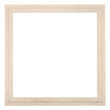 Square wooden textured narrow picture frame Stock Photography