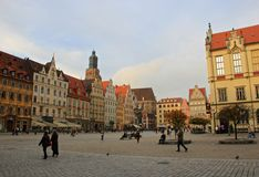Square in Wroclaw, Poland Royalty Free Stock Images