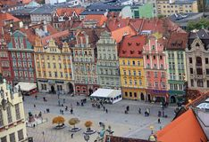 Square in Wroclaw, Poland Royalty Free Stock Photography