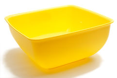 Square yellow bowl Stock Photos