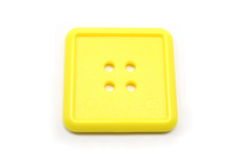 A square yellow button Stock Image