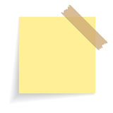 Square yellow sticker Stock Photo