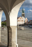 Square zaccaria of hradec to telc czech republic europe Stock Image