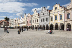 Square zaccaria of hradec to telc czech republic europe Royalty Free Stock Images