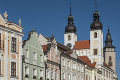 Square zaccaria of hradec to telc czech republic europe royalty free stock image