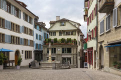 Square in Zurich Royalty Free Stock Photo