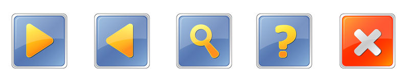 Square_buttons Royalty Free Stock Photos