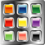 Squarebuttons191007 Stock Photo