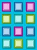 Squared on Aqua Stock Image