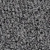 Squared background in black and white. Silvered and white small squares on black background. Abstract background Stock Illustration