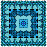 Squared background - ornamental floral pattern. Design for banda Royalty Free Stock Photos