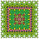 Squared background - ornamental floral pattern Royalty Free Stock Photography