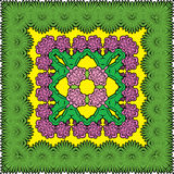 Squared background - ornamental floral pattern Stock Image