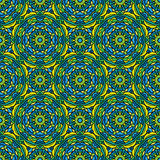 Squared background - ornamental seamless pattern in green Royalty Free Stock Photo