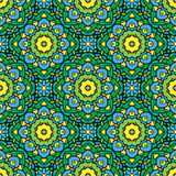 Squared background - ornamental seamless pattern in green Royalty Free Stock Photos