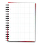 Squared blank spiral notebook Stock Photos