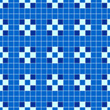 Squared blue seamless pattern. Vector background Royalty Free Stock Photos