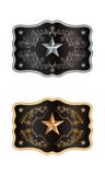 Squared buckle. Western style with lone star of texas Stock Image