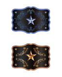 Squared buckle. Western style with lone star of texas Stock Images