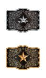 Squared buckle. On white backgournd with lone star of texas Royalty Free Stock Image