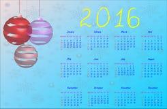 Squared 2016 Calendar. 2016 elegant squared calendar. File easy to edit and apply. Year 2016 calendar. Calendar 2016 Royalty Free Stock Photo