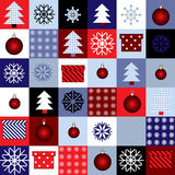 Squared christmas pattern Royalty Free Stock Images
