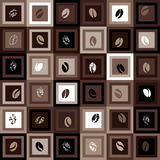 Squared coffee pattern Royalty Free Stock Photography