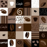Squared coffee pattern Stock Photography