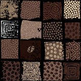 Squared coffee pattern Stock Image