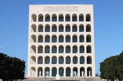 Squared Colosseum in Rome Stock Photo